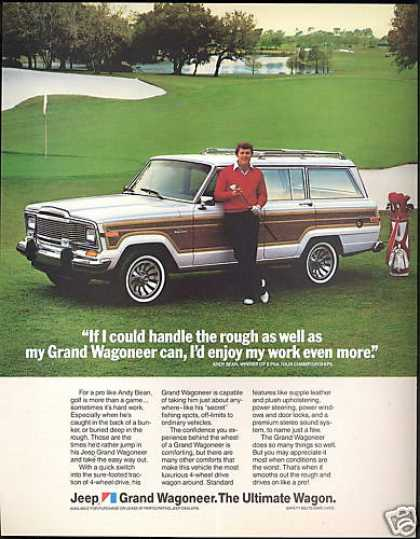 Jeep Grand Wagoneer Andy Bean PGA Golf Photo (1984)
