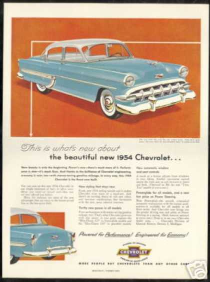 Chevrolet Bel Air 4dr Sedan Vintage Car (1954)