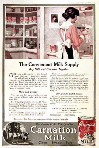 Carnation Milk (1919)