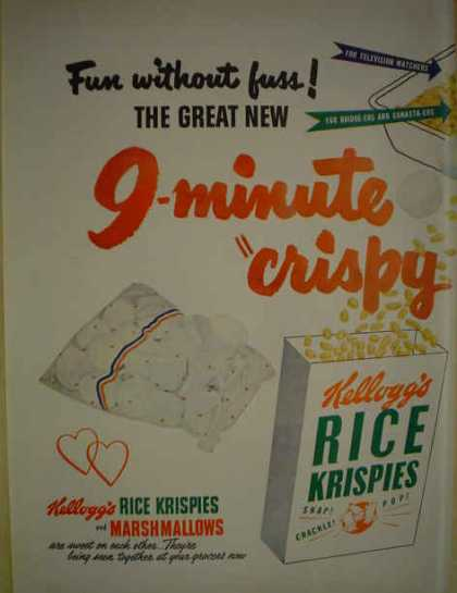 Kellogg's Rice Krispies Snap Crackle Pop 9 minute (1950)
