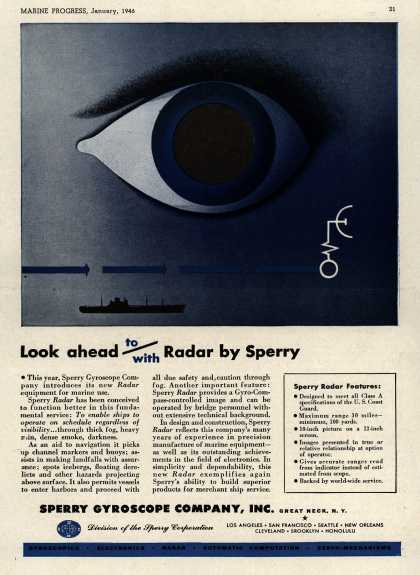 Sperry Gyroscope Company, Incorporated's Radar Equipment – Look Ahead To/With Radar by Sperry (1946)