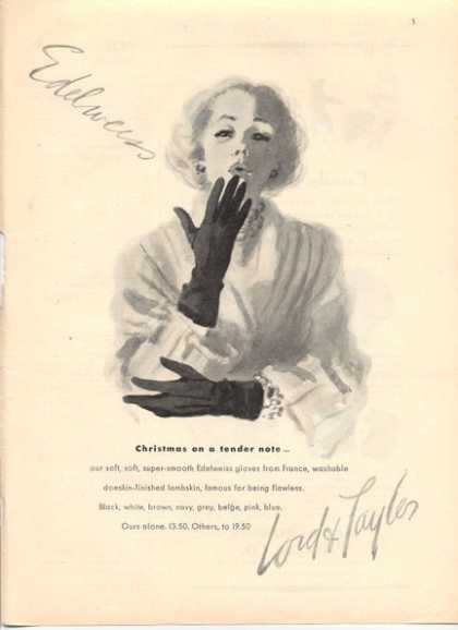 Lord & Taylor Edelweiss Gloves France (1947)