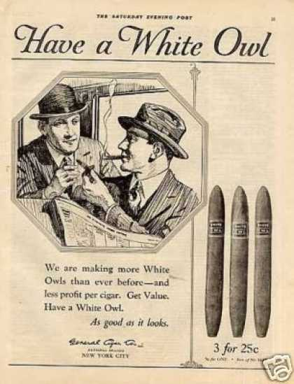 White Owl Cigars (1921)