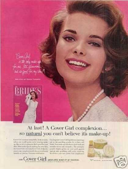 Cover Girl Make-up Ad Bonnie Trompeter (1963)