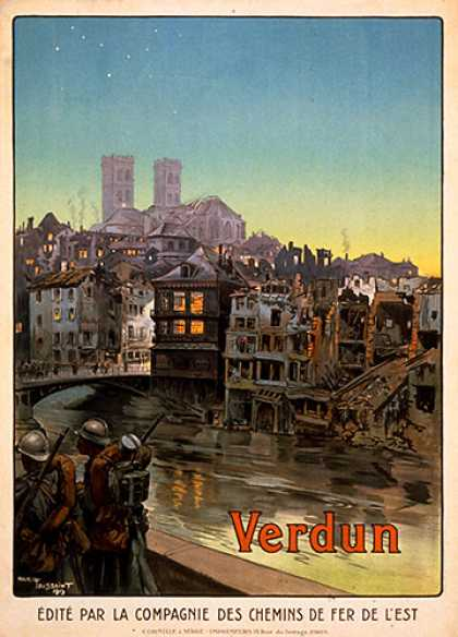 Verdun, French war poster