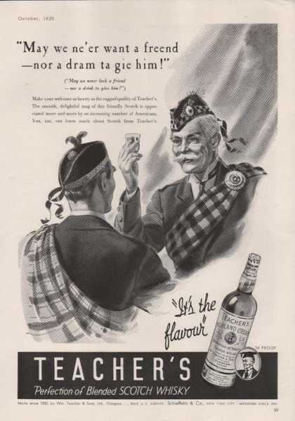 Teachers Blended Scotch Whiskey (1939)