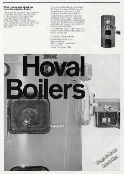 Hoval Combination Boiler Uk (1965)