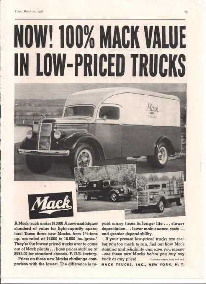Mack Delivery Trucks (1938)