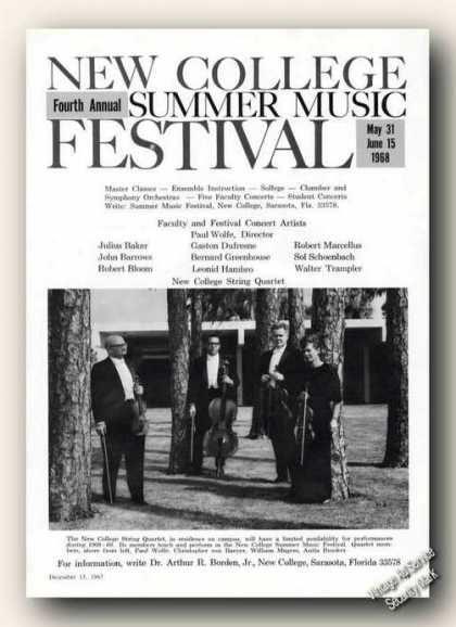 New College String Quartet Photo Festival Promo (1967)