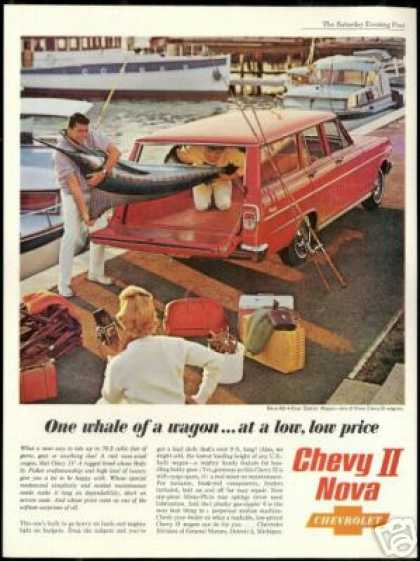 Red Chevrolet Chevy II Nova Wagon Marlin Photo (1962)