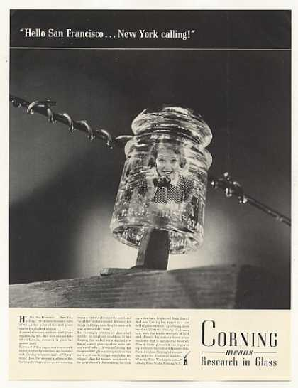 Corning Pyrex Glass Telephone Line Insulator (1937)