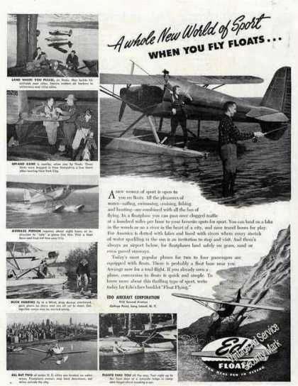 Edo Small Plane Floats Rare Full Page Photos (1947)