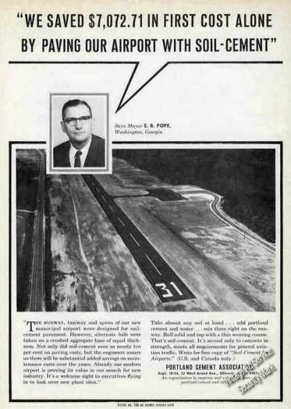 Aerial View Washington Ga Airport Soil-cement (1964)