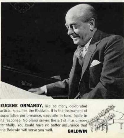 Eugene Ormandy Photo Baldwin Pianos (1963)