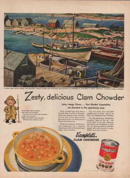 Campbells Clam Chowder Soup (1949)