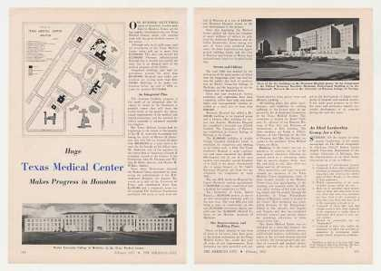 Houston Texas Medical Center 2-Page Photo Article (1952)
