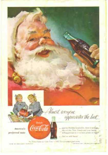 Coke Christmas – Santa enjoying a bottle (1955)