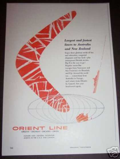 Original Orient Line Travel Cruise (1956)
