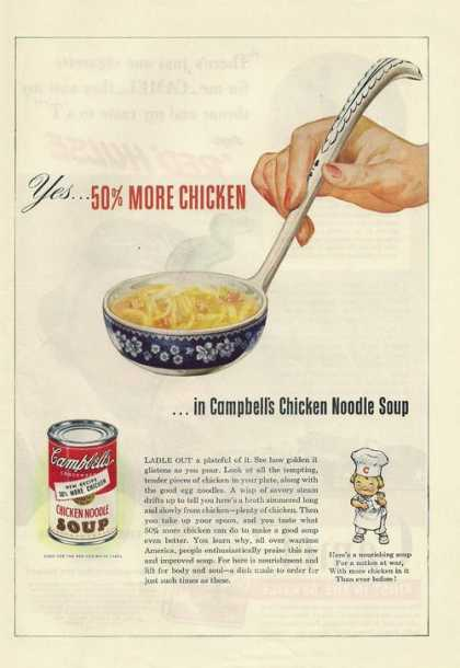 Campbells Chicken Noodle Soup (1943)