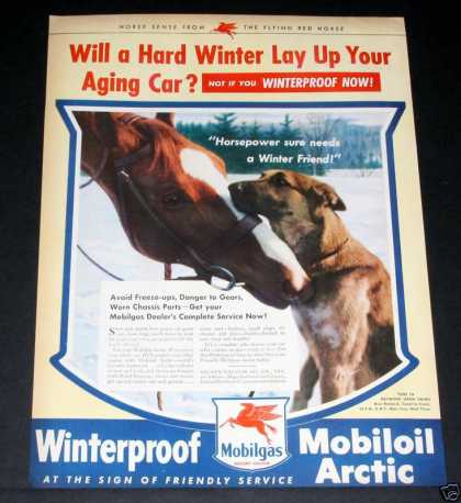 Mobilgas, Winter Friends, Horse (1944)