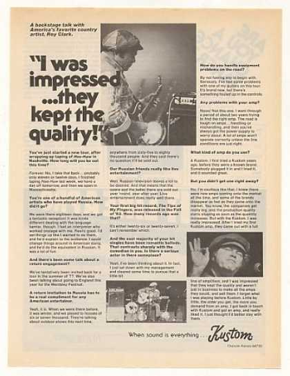 Roy Clark Backstage Interview Kustom Amp (1976)