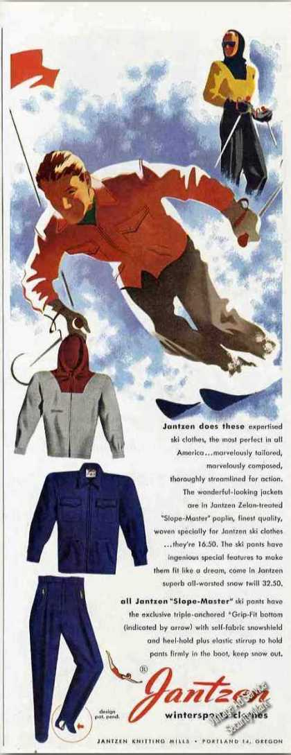 Jantzen Ski Clothes Art Fashion (1948)