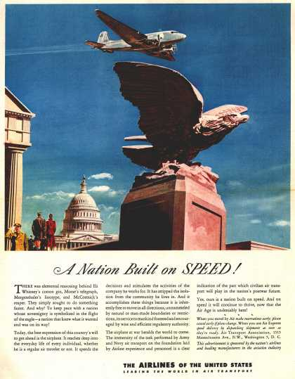 The Airlines of the United State's Air Travel – A Nation Built on Speed (1945)
