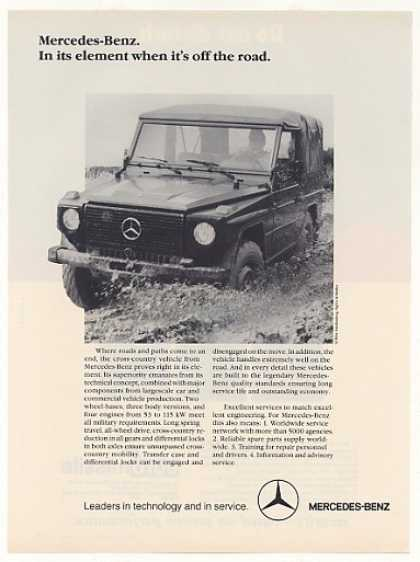Mercedes-Benz Cross-Country Vehicle Photo (1987)
