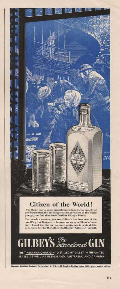 Citizen of the World Gilbeys Gin (1941)