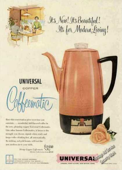 Universal Copper Coffeematic for Modern Living (1954)