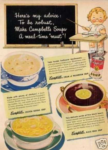"Campbell's Soup Ad ""Here's My Advice... (1948)"