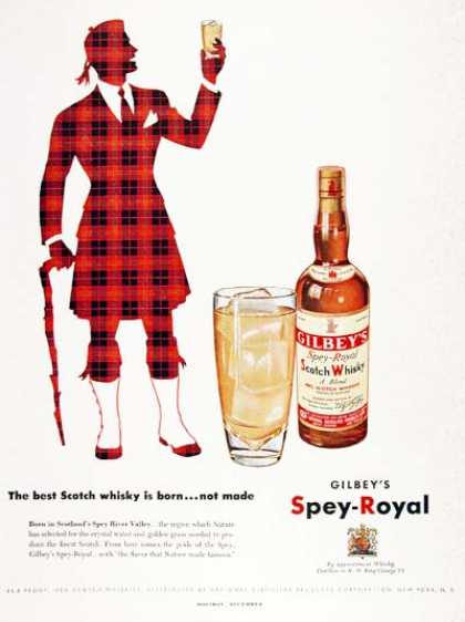 Gilbey's Scotch Whiskey – The best Scotch whisky is born... not made (1951)