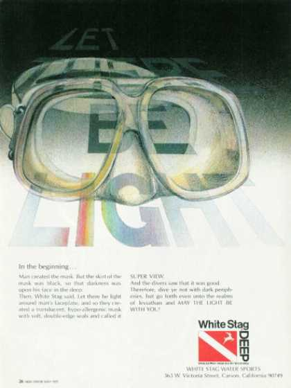 White Stag Deep Scuba Diver Diving Mask (1978)