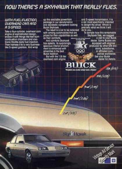 Buick Skyhawk Photos Collectible Car (1983)