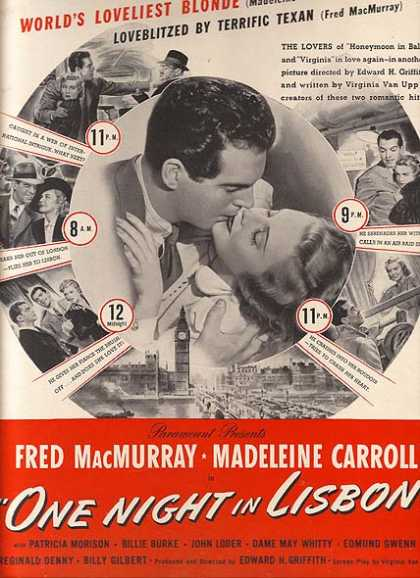 One Night in Lisbon (Fred MacMurray) (1941)