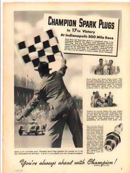 Champion Spark Plugs – Floyd Davis – Sold (1941)