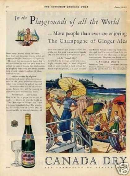 Canada Dry Ginger Ale Color (1931)