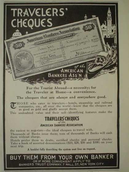 American Bankers Association Travelers Checques AND Ivory Soap Cowboy theme It floats (1910)