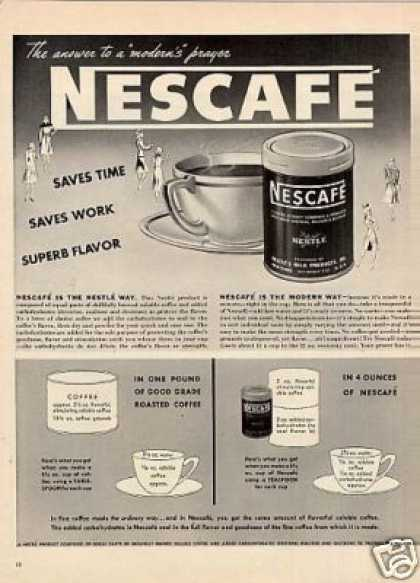 Nescafe Coffee (1942)