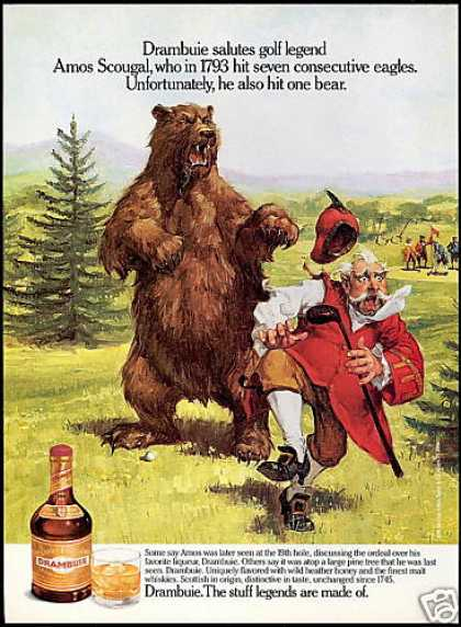 Drambuie Liqueur Golf Seven Eagles One Bear (1990)