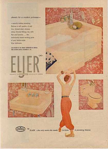 Eljer's smartly crafted plumbing fixtures (1956)