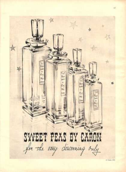 Caron Sweet Peas Bottle Perfume (1951)