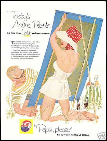 Pepsi Cola Beach Theme Active People Light (1958)