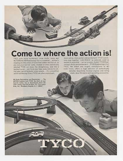Tyco HO Railroading & Roadracing Toy (1969)