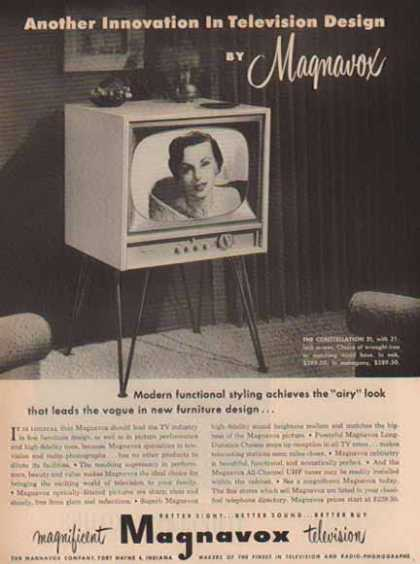 Magnavox TV – The Constellation 21 / Ft Wayne 4, IN (1952)