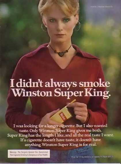 Winston – Women of Winston Cigarette – I didn't always smoke (1976)