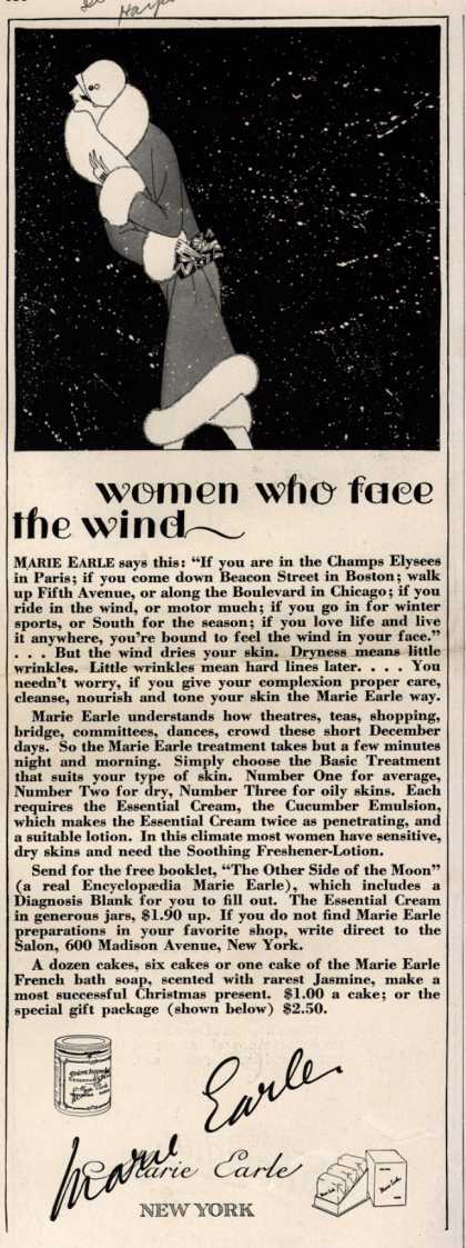 Marie Earle's Cosmetics – women who face the wind (1925)