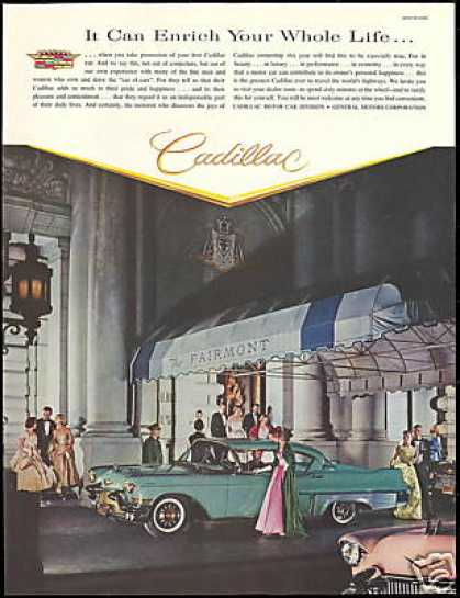 Pink & Turquoise Cadillac Fairmont Hotel Photo (1957)