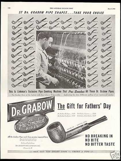 Dr Grabow Briar Tobacco Pipe 57 Shapes (1948)