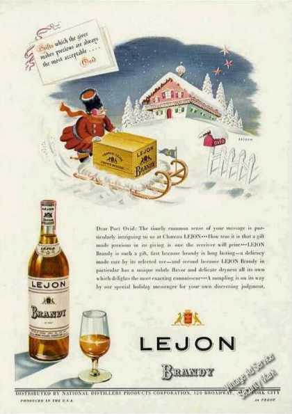Lejon Brandy Collectible Christmas Gift Theme (1947)